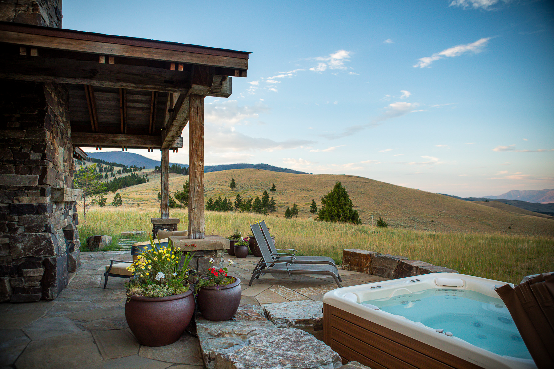How to: Landscaping around a hot tub